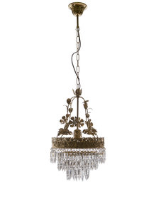 Chandelier, Copper with Glass