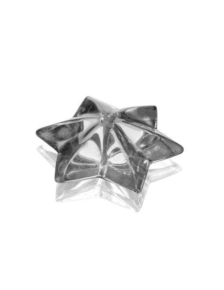 Chandelier glass, star shaped bead