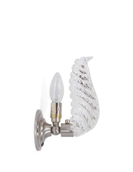 Glazen Art Deco wandlamp