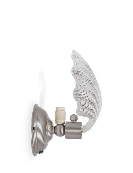 Art Deco wandlamp, breed glazen blad