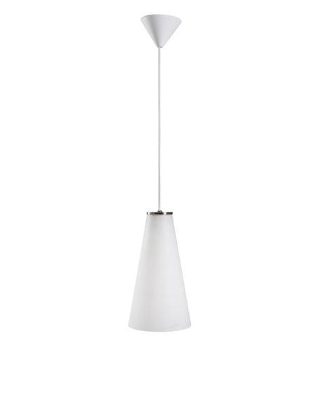 Glazen hanglamp aan koord