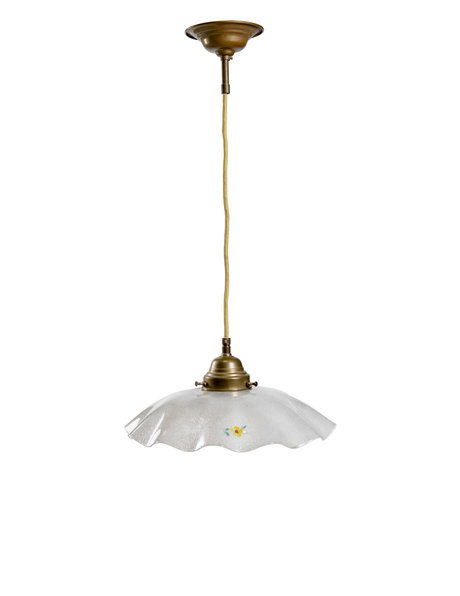 Snowy lampshade with cute flower