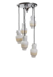 Cascade Pendant Lamp, 5 Light Points
