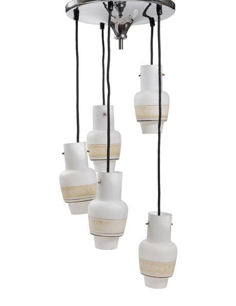 Design hanging lamp, cascade, 1950s