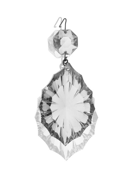 Lustre glass, crystal star
