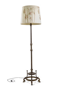 Vintage Vloerlamp met Bronzen Armatuur