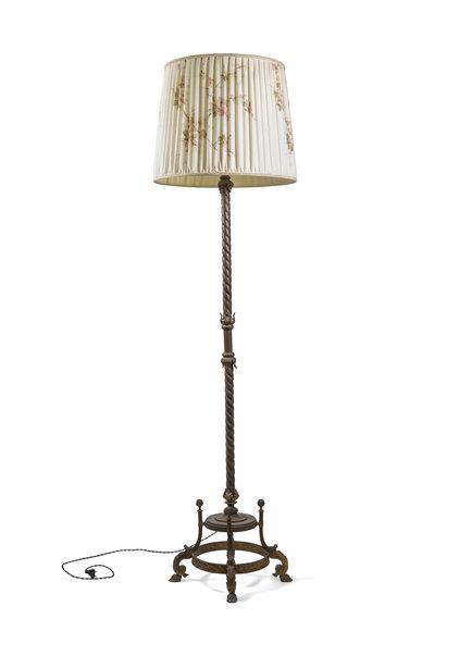 Vintage Floor Lamp with Bronze Fixture