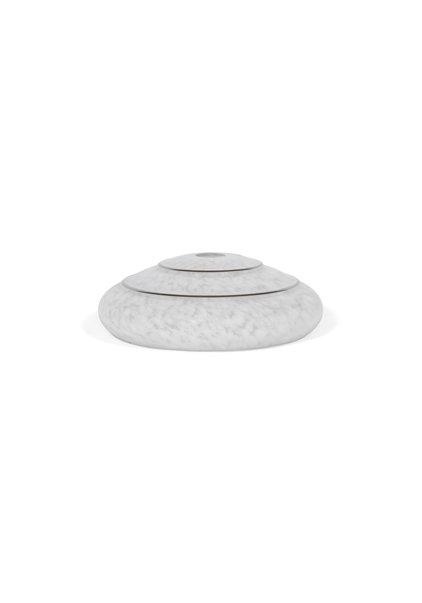 Wit Gewolkte Lampenkap met Zilveren Rand