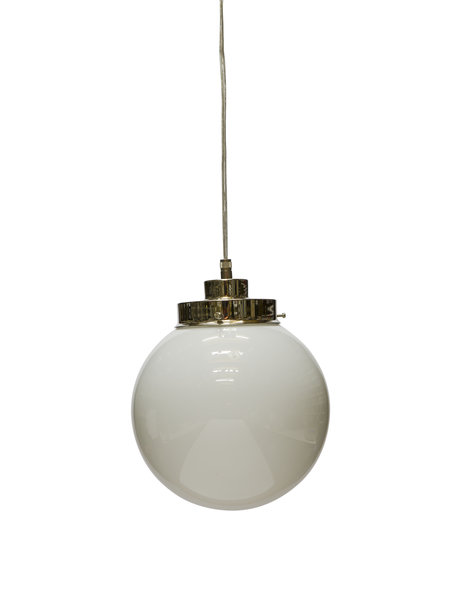 White pendant, glass globe on a cord