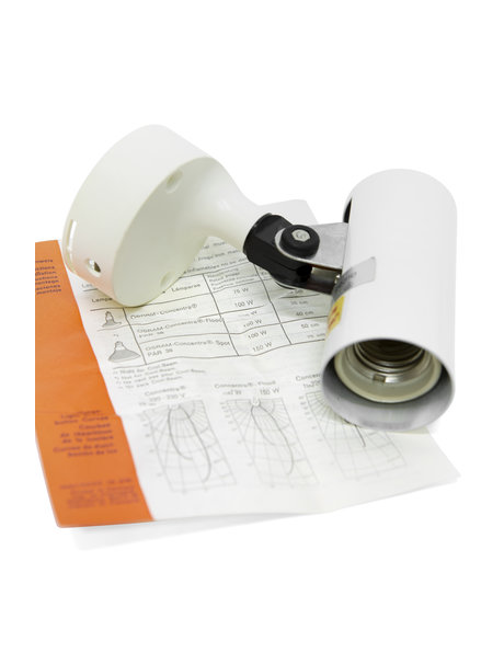 Concentra set, wall lamp with bulb