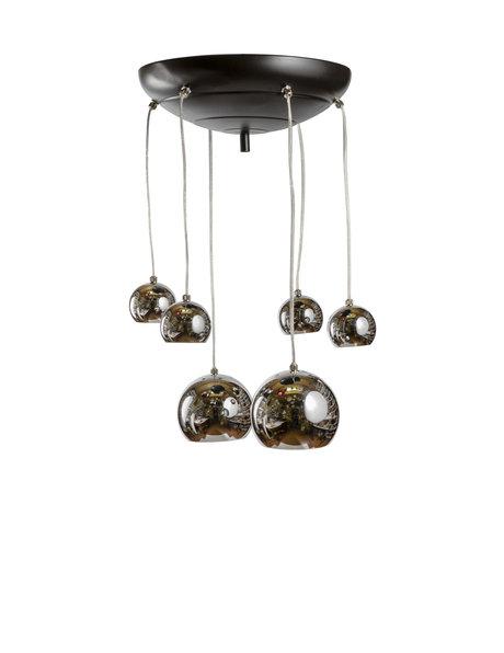 Hanglamp, chroom kleurige cascade