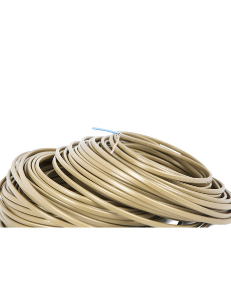Electrical cord for lamps, flat model, gold, 2x0.75