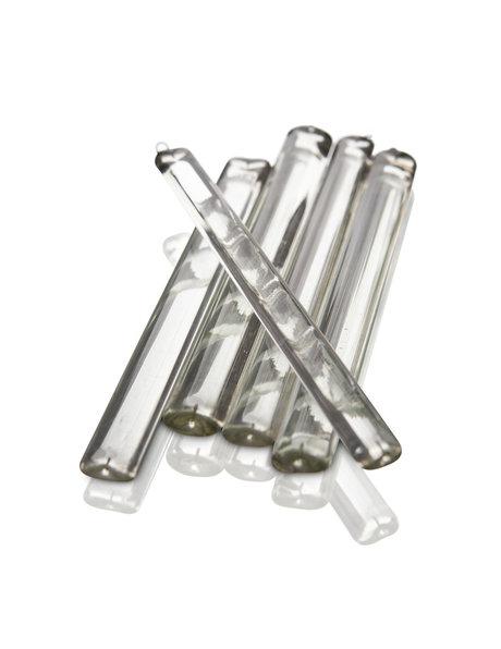 Glass bead for a chandelier, flat model