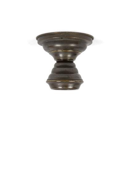 Koperen Plafondlamp, Gebruineerd
