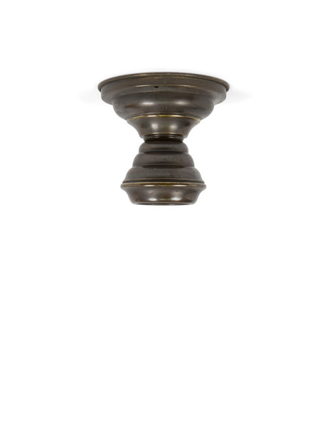 Brown ceiling lamp, all copper