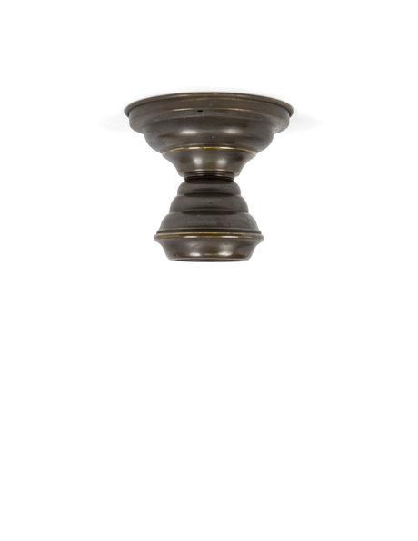 Bruine plafondlamp, geheel koper