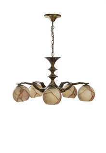 1950s Hanging Lamp Copper Spider