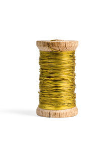 Chandelier Wire on Bobbin -Gold colored-