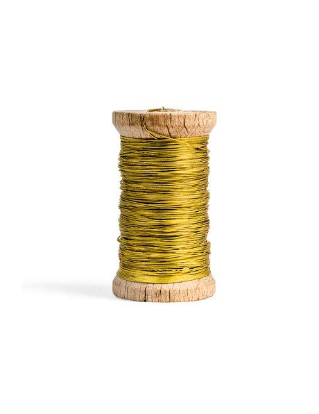 Kroonluchter koperdraad op houten spoel