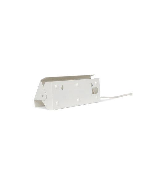 bedside lamp, white metal