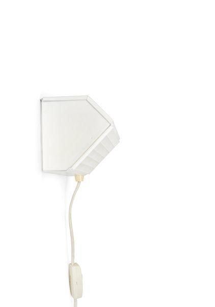 White Bedside Lamp, From The 1970s, Vroom en Dreesman