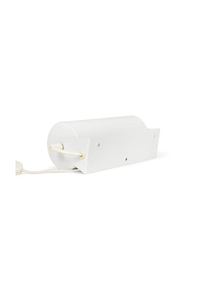 Bedlampje, wit metalen cilinder