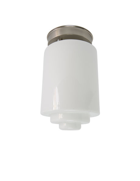 Ceiling Lamp, White Glass Cylinder