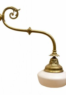 Brocante Wall Lamp, Copper with Opal Glass
