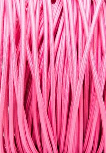Lamp Wire, with Textile Cover, Pink