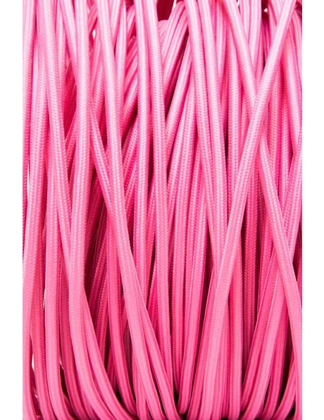 Pink Electrical Cord, 2 Core, Textile Cover