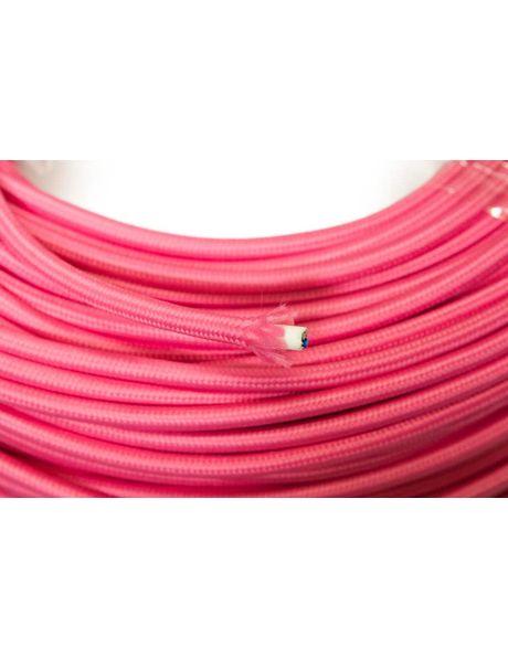 Roze Snoer, strijkijzersnoer, 2 aderig