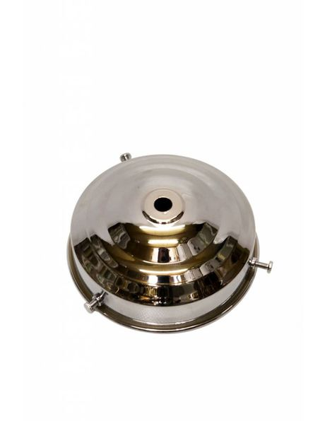 Lampenkap houder, 10 cm greep, chroom.