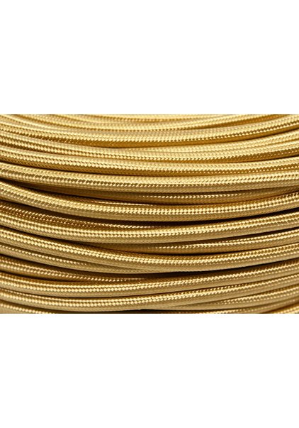 Cloth Covered Electrical Wire, Gold Colour