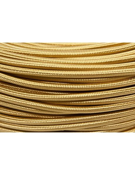 Cloth covered electrical wire, gold coloured