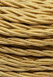 Gevlochten Stoffen Snoer, goud-kleurig