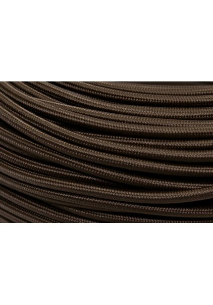 Lamp Wire, with Textile Cover, Dark Brown Colour