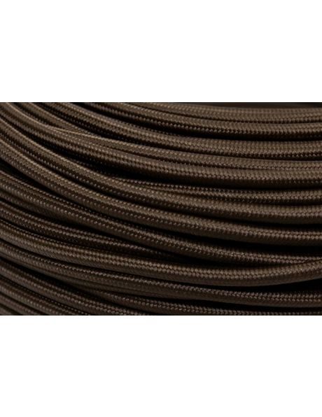 Strijkijzer Snoer, bruin stof, ronde draad