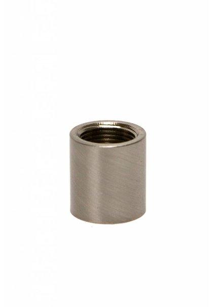 Koppelstuk, mat nikkel, M13