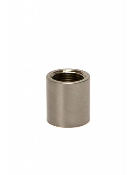 Koppelstuk / Verbinding M13 - M13, mat nikkel
