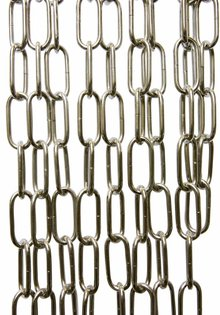 Lamp Chain, Chrome, Big
