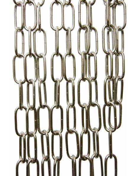 Chrome chain for lamp, big size links: 5.5x2.5 cm / 2.2x1.0 inch