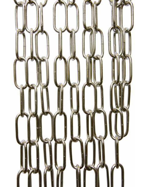 Chromen ketting voor lamp, grote schakel: 5.5 x 2.5 cm