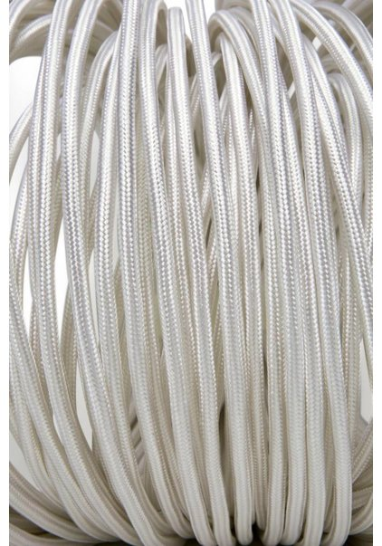 Lamp Wire, with Textile Cover, White