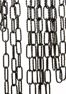 Lamp Chain, Black, Twisted