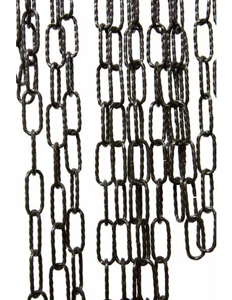 Lampketting, gedraaide grote schakel, zwarte kleur