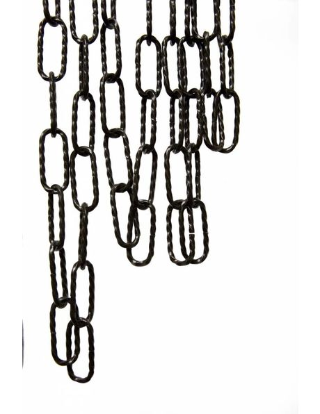 Lamp Chain, twisted big size link, black colour