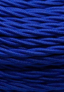 Lamp Wire with Fabric Cover, Blue Colour, Beautifully Braided