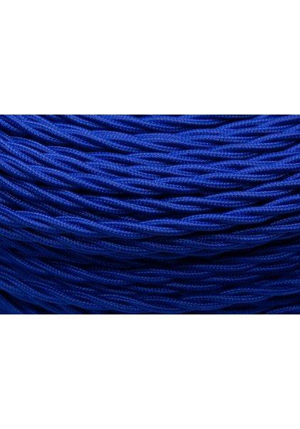 Strijkijzersnoer, blauw, gevlochten