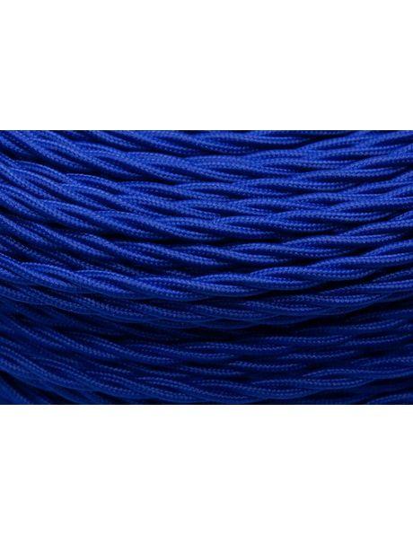 Blauw Strijkijzersnoer, 3 aderen, gevlochten