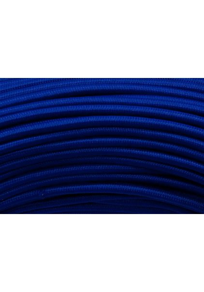 Lamp Wire, With Fabric Cover, Blue